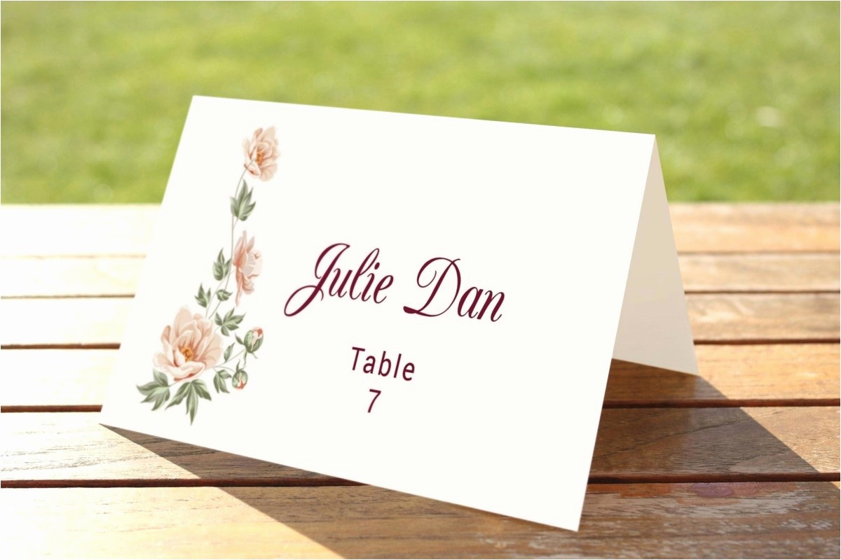 Printing Tent Cards In Word Lovely Tent Name Card Template Word Template Design Ideas