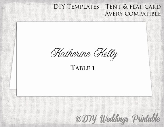 Printing Tent Cards In Word Luxury Place Card Template Tent & Flat Name Card Templates