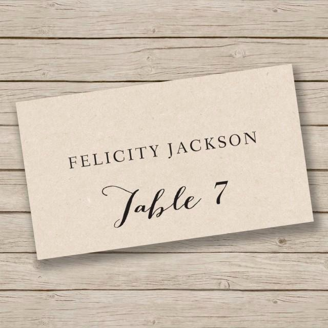 Printing Tent Cards In Word Unique Printable Place Card Template Escort Card Template