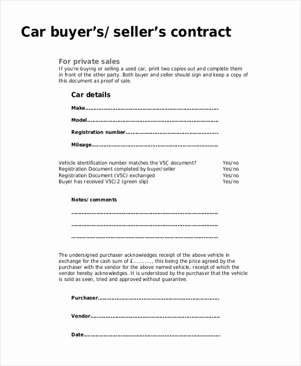 Private Car Sale Receipt Template Awesome Sample Sales Receipt form 9 Free Documents In Pdf