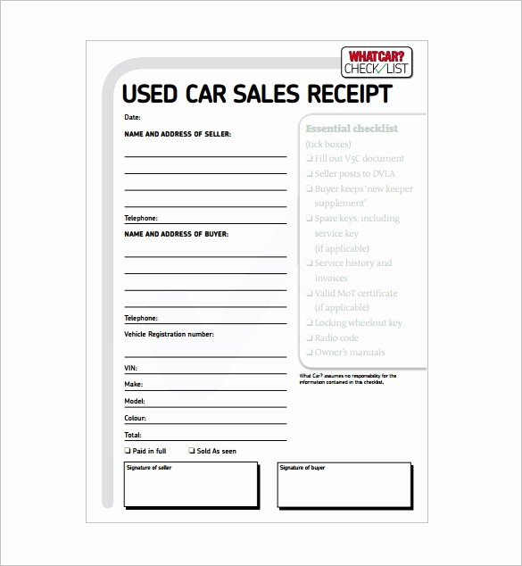 Private Car Sale Receipt Template Lovely Private Car Sale Receipt Template Invitation Template