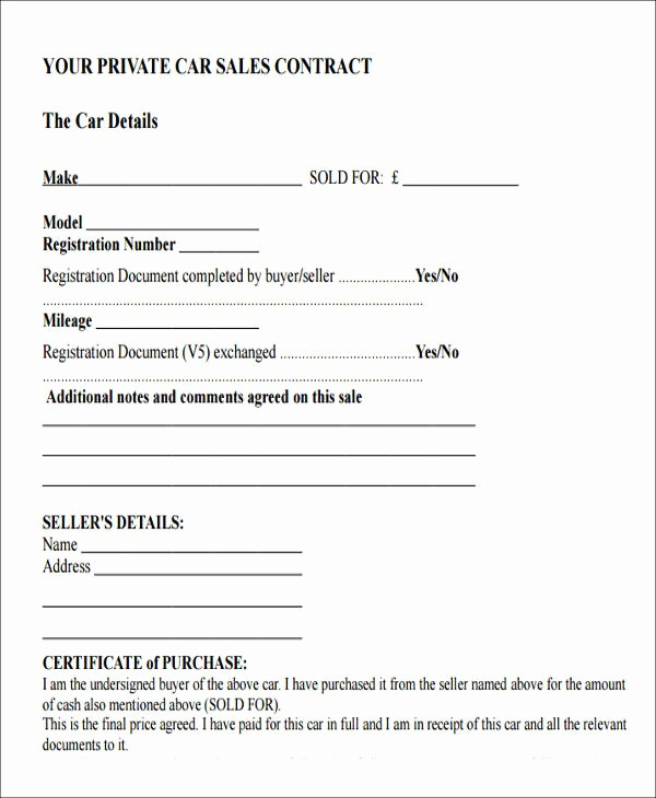 Private Car Sale Receipt Template New 9 Car Payment Receipts