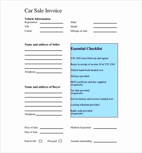Private Car Sales Receipt Template Best Of Vehicle Sales Invoice Template Rusinfobiz