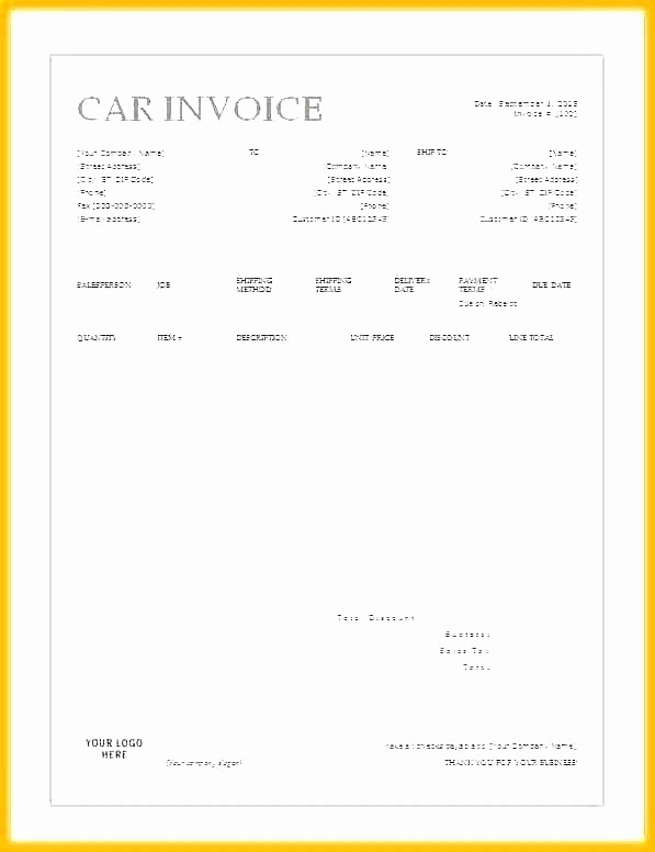 Private Car Sales Receipt Template Unique Used Car Sales Receipt Used Car Sales Receipt Tax Invoice