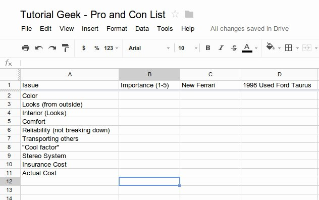 Pro and Con List Template Best Of How to Make An Effective Pro and Con List Using A