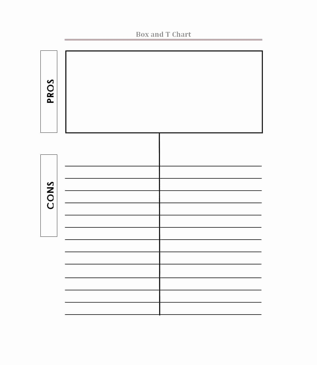 Pro and Con List Template Fresh Pros and Cons List Templates