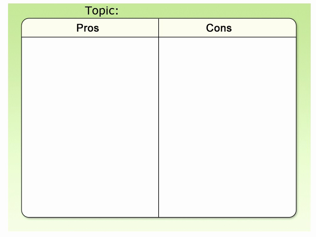 Pro and Con List Template Fresh Template Pros and Cons Rm Easilearn Us