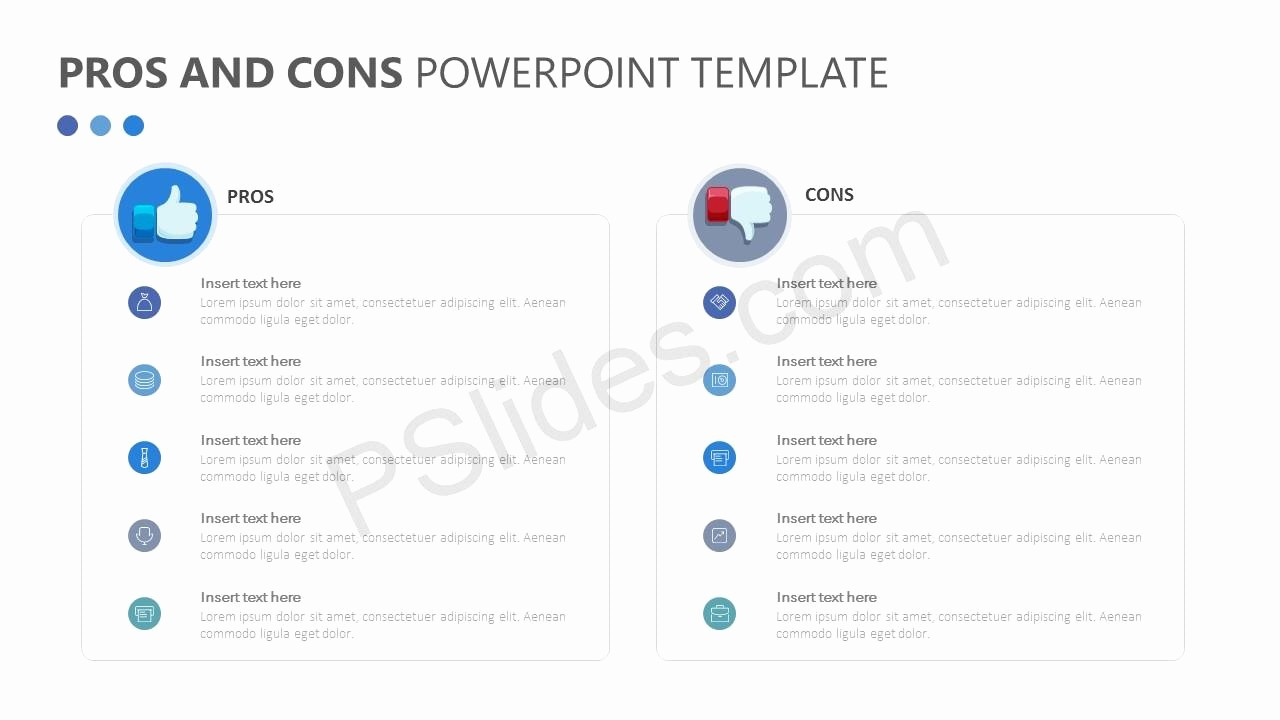 Pro and Con List Template Inspirational Free Pros and Cons Powerpoint Template Pslides