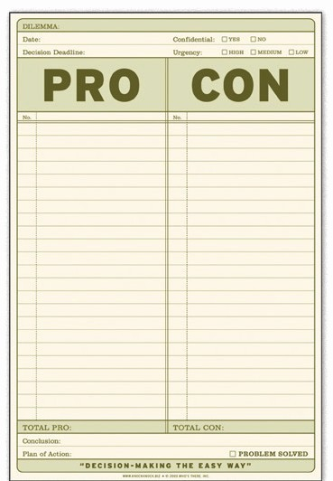 Pro and Con List Template Lovely How to A Pro and Con List