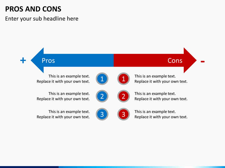Pro and Con List Template Luxury Pros and Cons Powerpoint Template
