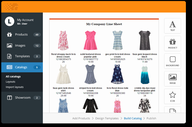 Product Catalog Template Free Download Awesome Create A Line Sheet with Free Templates