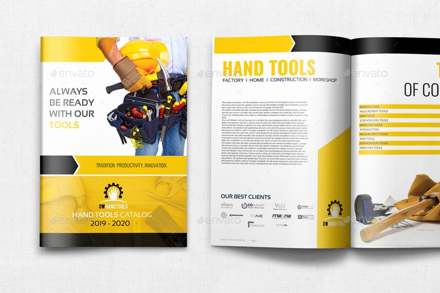 Product Catalog Template Free Download Best Of Hand tools Products Catalog Brochure Template 24 Pages