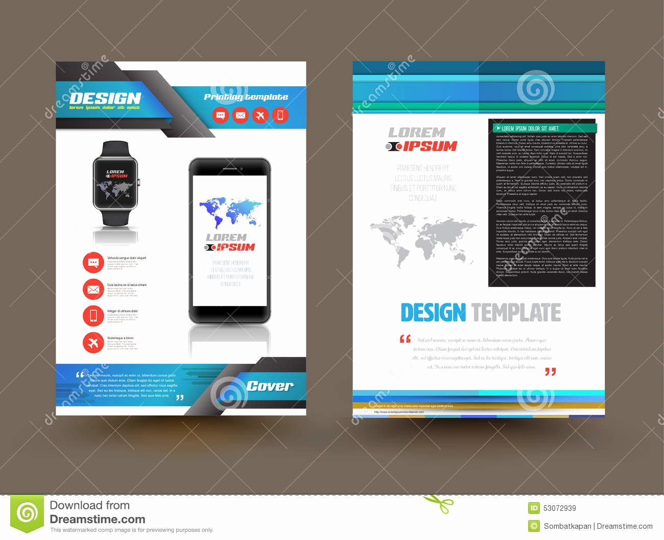 Product Catalog Template Free Download Elegant Vector Brochure Template Design for Technology Product