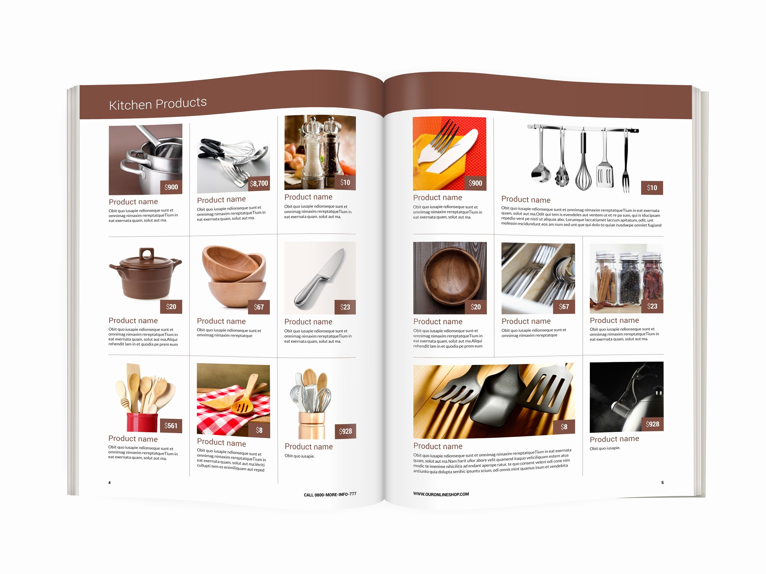 Product Catalog Template Free Download New Modern Product Catalog Template A4 format Size Ready to