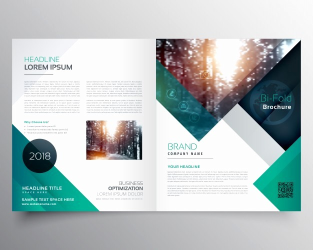 Product Catalogue Templates Free Download New Green Business Brochure Template Vector