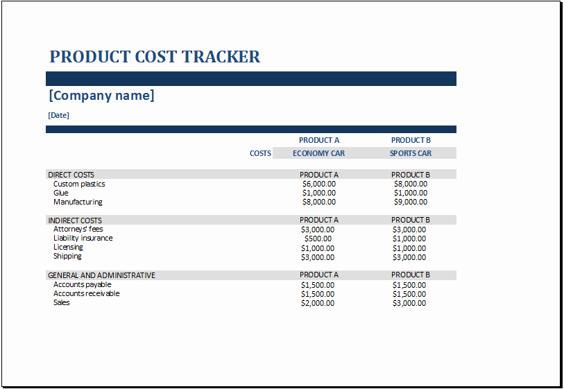 Product Costing Template Excel Free Awesome Ms Excel Product Cost Tracker Templates