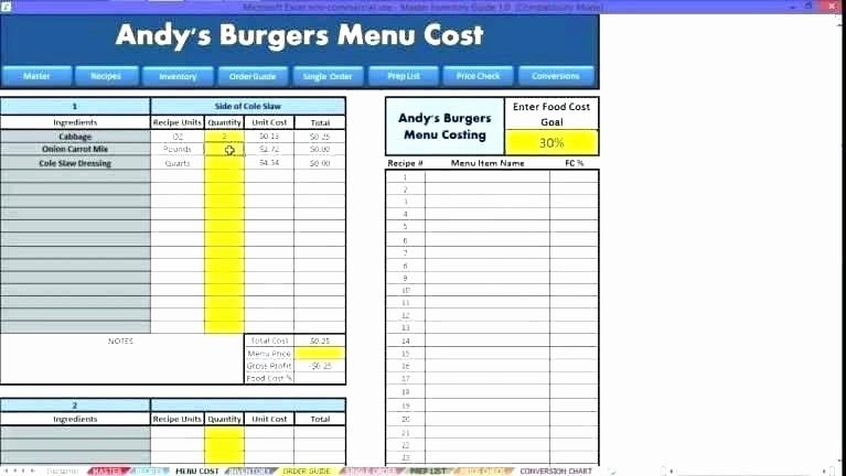 Product Costing Template Excel Free Beautiful Food Costing Templates Product Cost Sheet In L Spreadsheet
