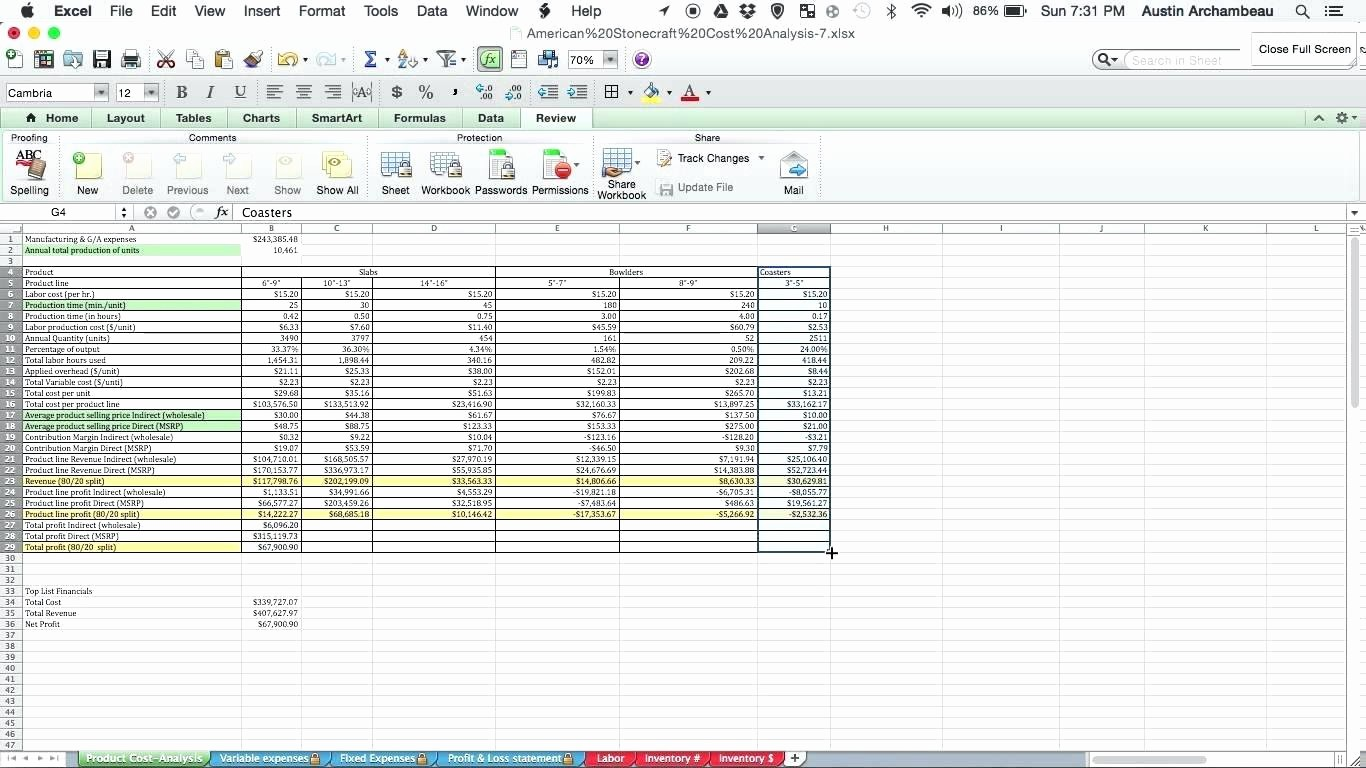 Product Costing Template Excel Free Lovely Template Product Cost Template Food Spreadsheet Excel