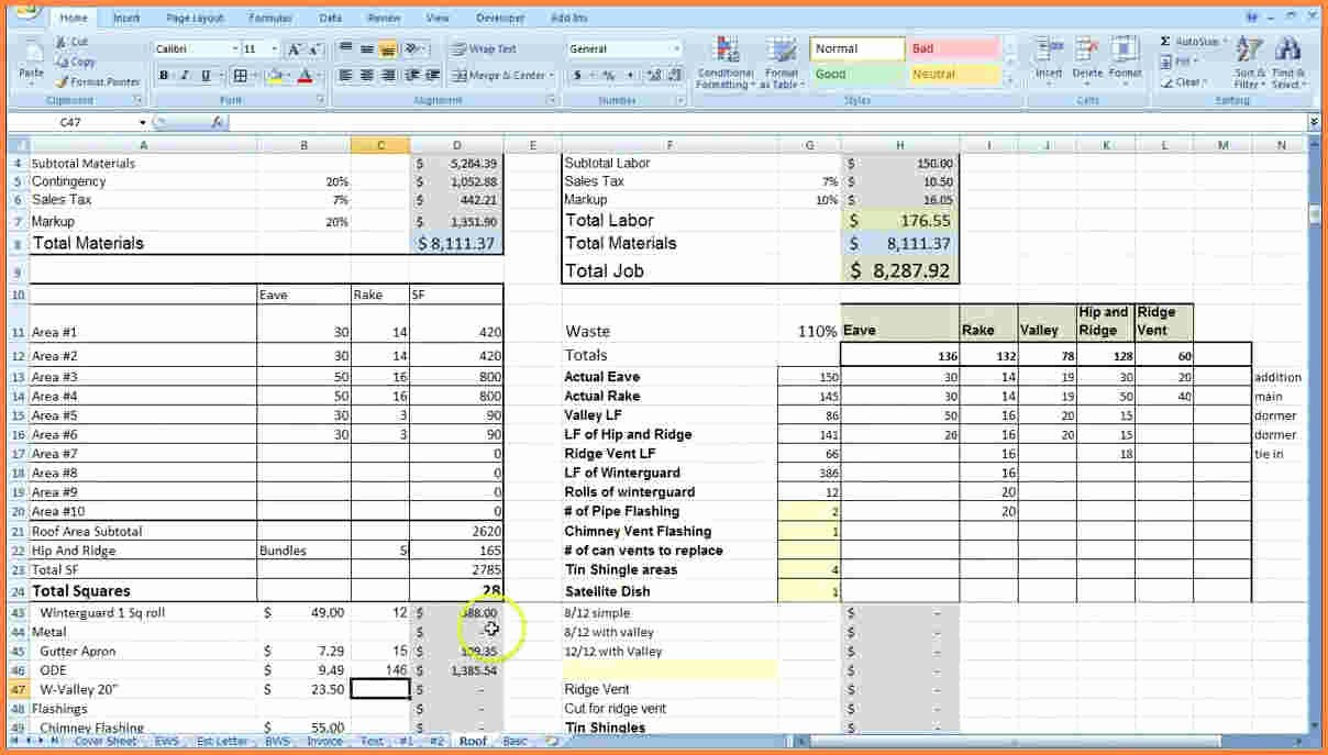 Product Costing Template Excel Free New 9 Construction Job Costing Spreadsheet