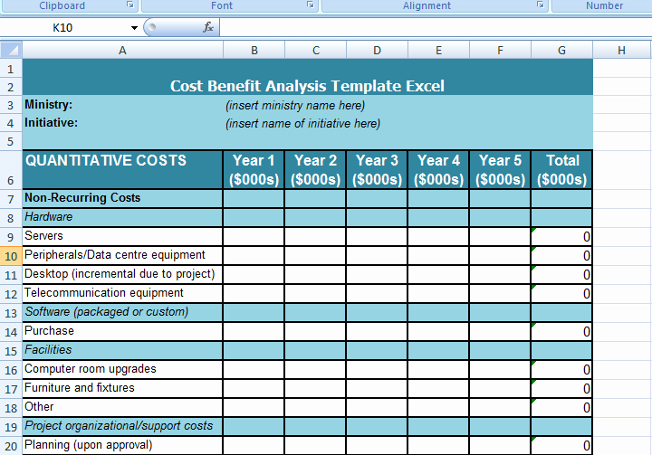 Product Costing Template Excel Free Unique Cost Benefit Analysis Template Excel