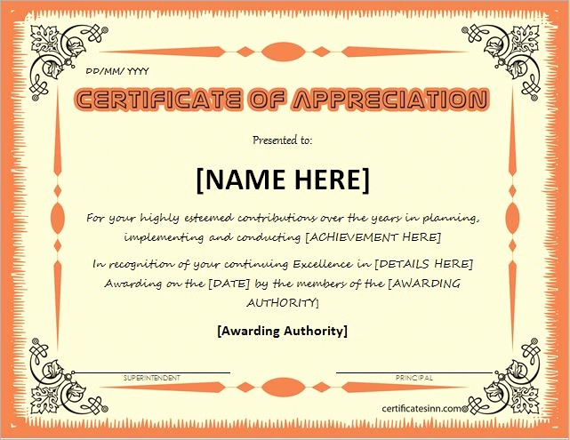 Professional Certificate Templates for Word Awesome Discreetliasons