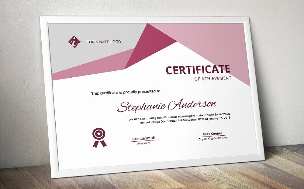 Professional Certificate Templates for Word Awesome Word Docx Certificate Template Stationery Templates