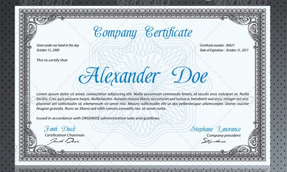 Professional Certificate Templates for Word Beautiful 28 Professional Certificate Templates Doc Pdf