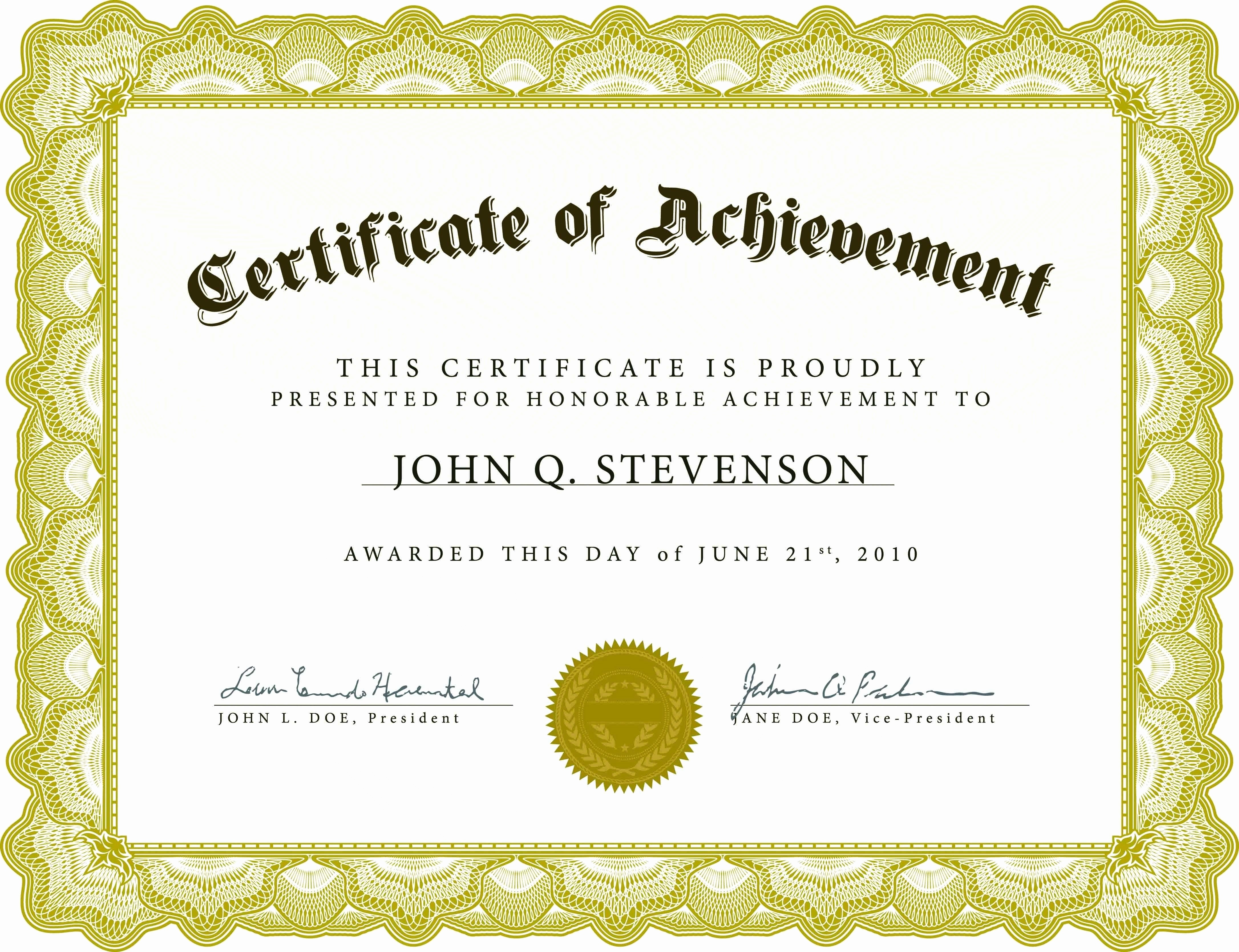 Professional Certificate Templates for Word Best Of Free Blank Certificate Templates for Word