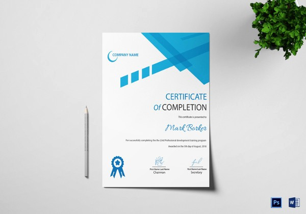 Professional Certificate Templates for Word Elegant Word Certificate Template 49 Free Download Samples