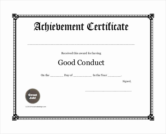 Professional Certificate Templates for Word Lovely Award Certificate Template Free Word Copy Professional and