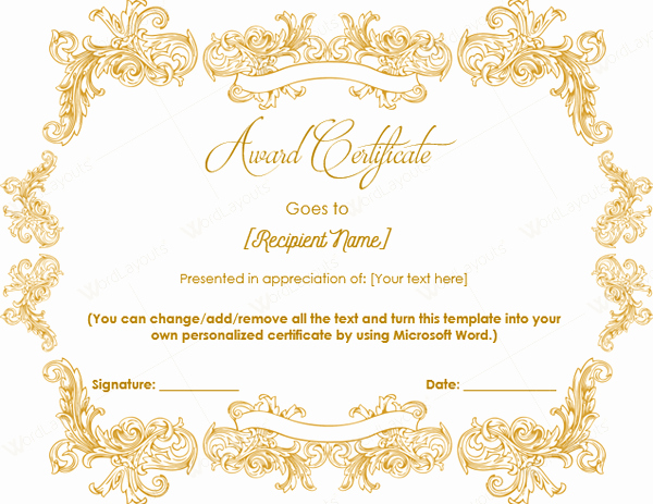 Professional Certificate Templates for Word Luxury 15 Professional Certificates