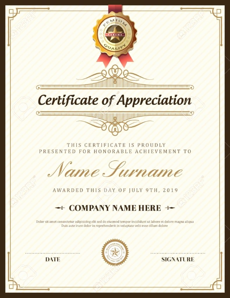 Professional Certificate Templates for Word New 15 Professional Certificate Of Achievement Templates