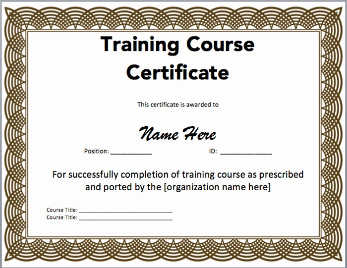 Professional Certificate Templates for Word Unique 15 Training Certificate Templates Free Download Designyep