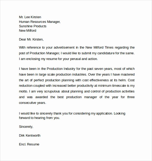 Professional Cover Letters for Resume Fresh 13 Resume Cover Letters – Samples Examples & formats