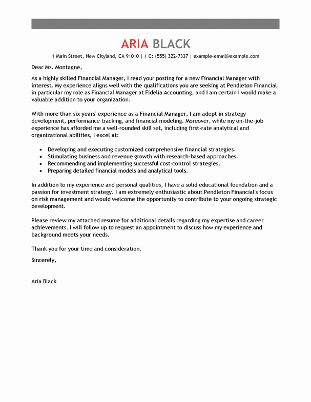 Professional Cover Letters for Resume Inspirational Resume Cover Letter Examples Resume Cv