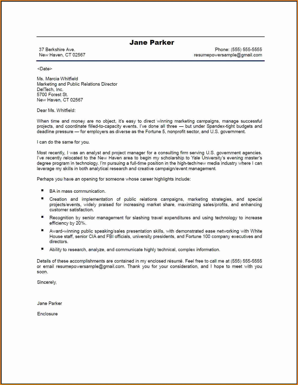 Professional Cover Letters for Resume New 4 Good Cover Letters for Resume