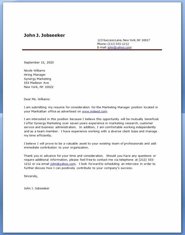 Professional Cover Letters for Resume Unique Cover Letter Examples