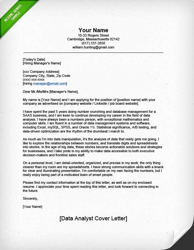 Professional Cover Letters for Resumes Beautiful Professional Data Analyst Cover Letter
