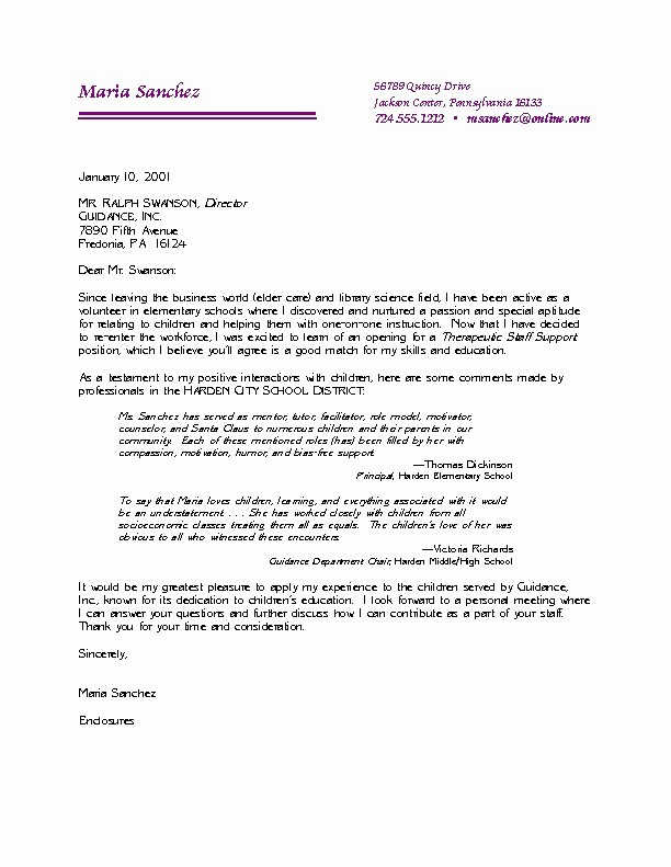 Professional Cover Letters for Resumes Fresh Examples Professional Letters Letter Of Re Mendation