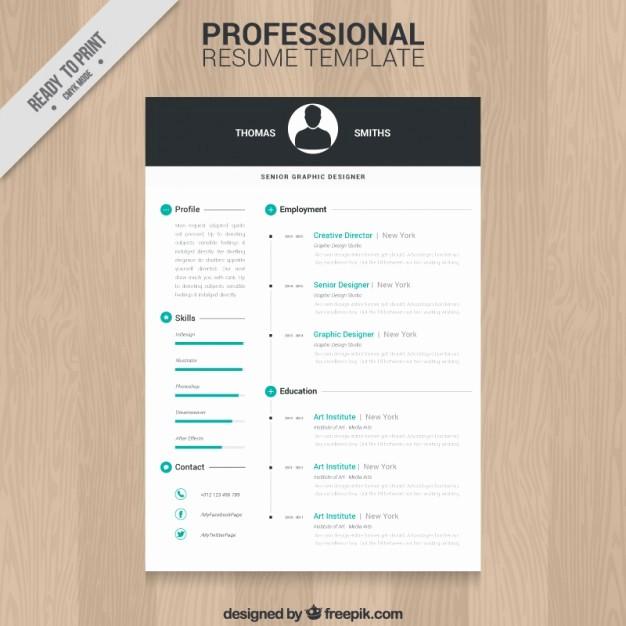 Professional Curriculum Vitae Template Download Elegant Professional Resume Template Vector