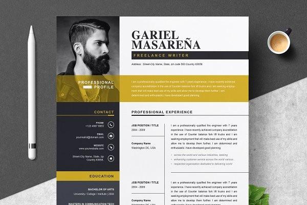 Professional Curriculum Vitae Template Download Elegant Search Creative Market