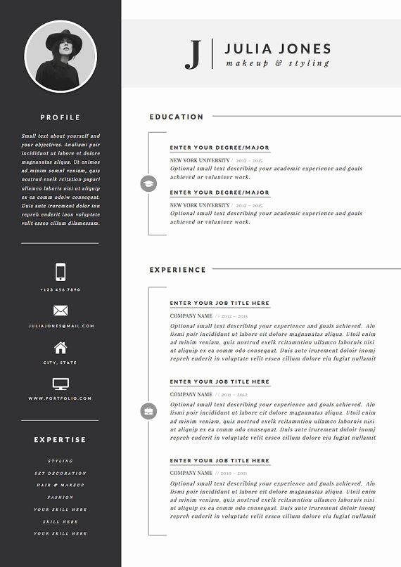 Professional Curriculum Vitae Template Download Inspirational Professional Resume Template & Cover Letter Icon Set for