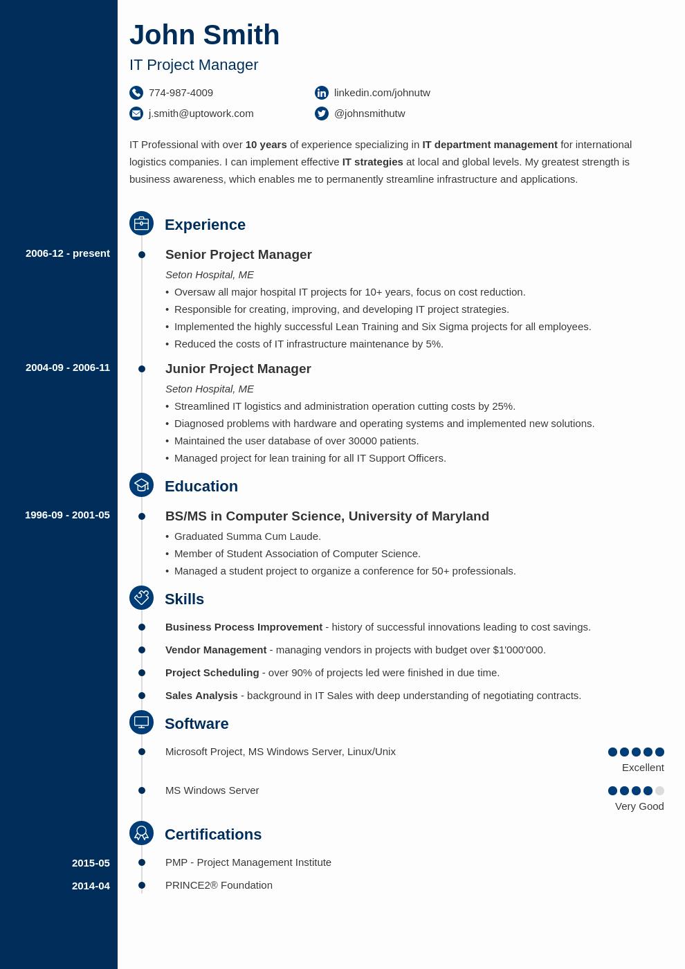 Professional Curriculum Vitae Template Download Lovely 20 Cv Templates Create A Professional Cv & Download In 5