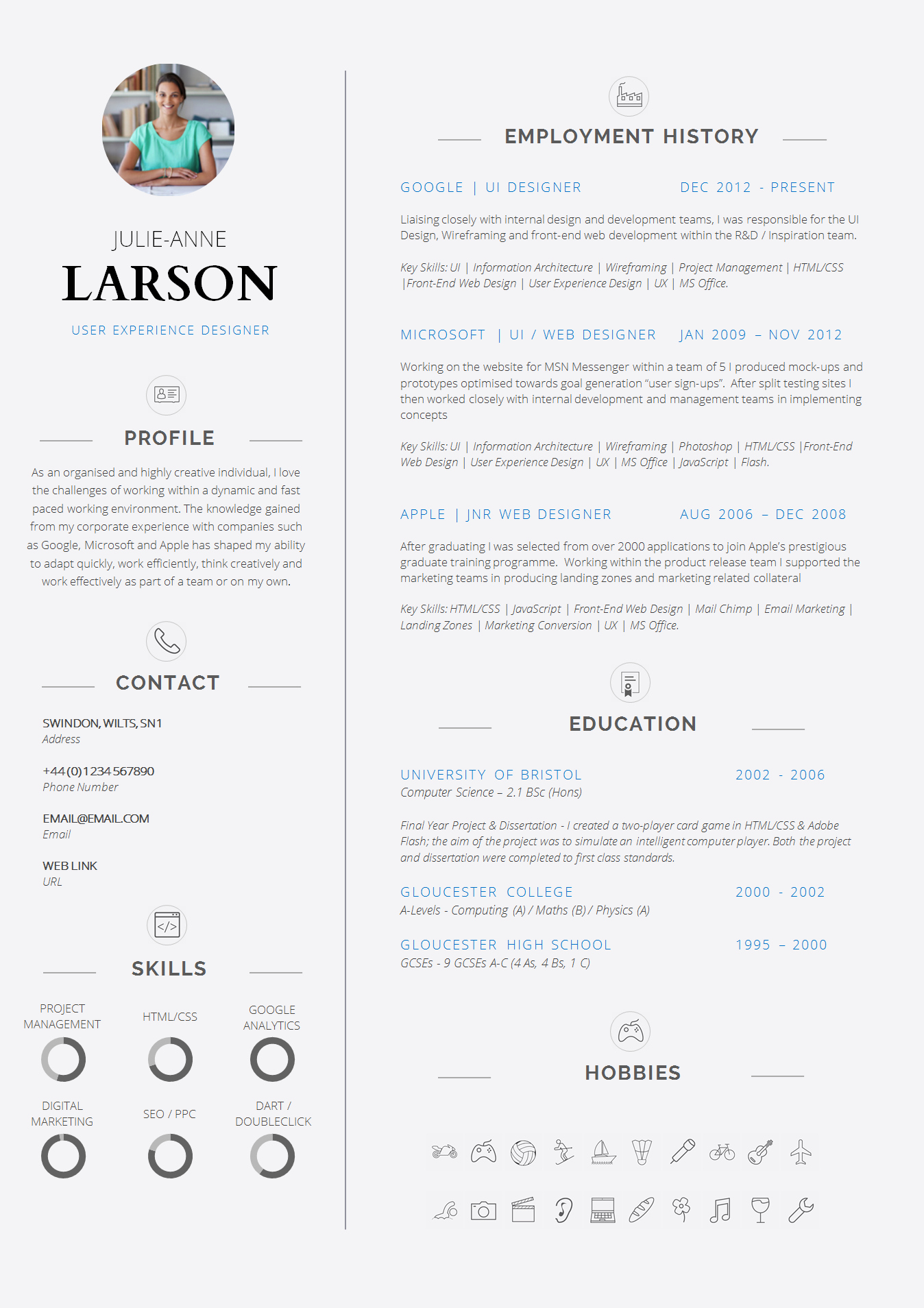 Professional Curriculum Vitae Template Download New 13 Slick and Highly Professional Cv Templates