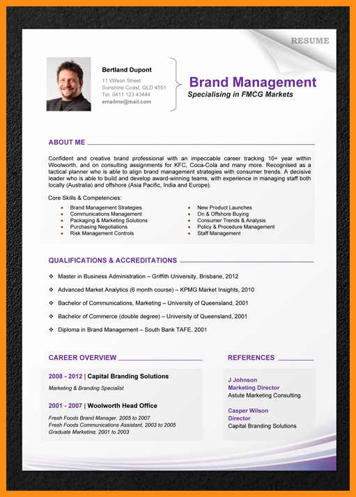 Professional Curriculum Vitae Template Download New 7 Professional Cv Template