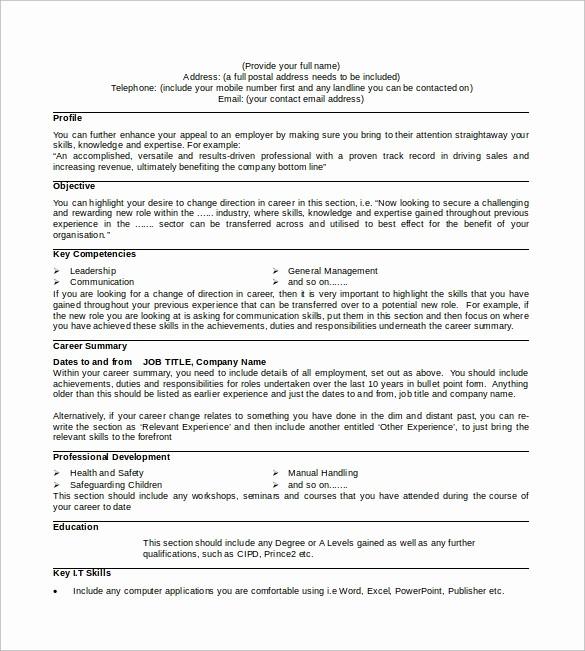 Professional Curriculum Vitae Template Download New 9 Sample Professional Cv Templates Download for Free