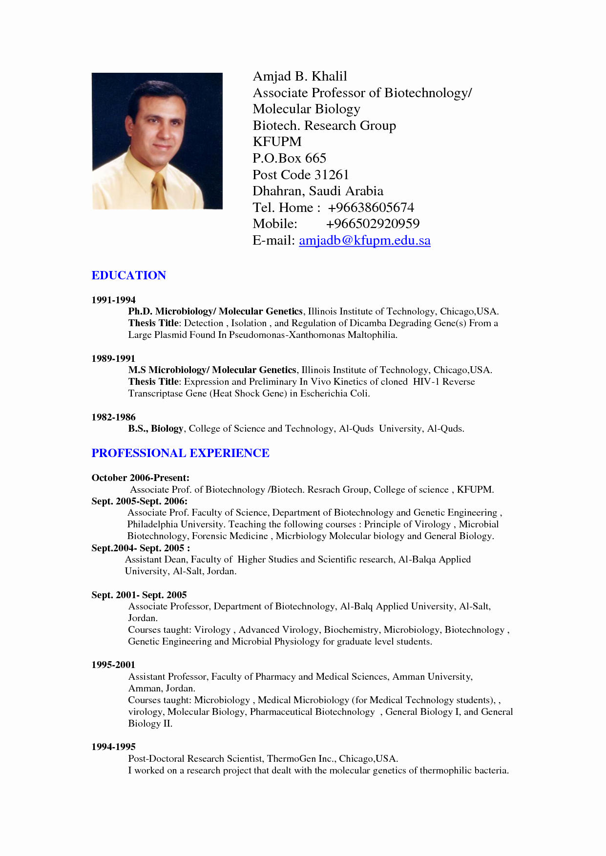 Professional Curriculum Vitae Template Download New Professional Resume format Doc