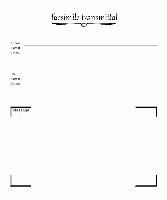 Professional Fax Cover Sheet Template Inspirational 12 Free Fax Cover Sheet Templates – Free Sample Example