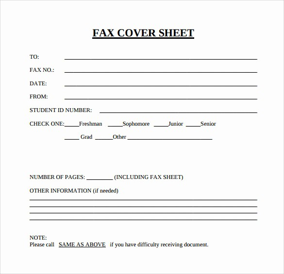 Professional Fax Cover Sheet Template Inspirational 15 Sample Blank Fax Cover Sheets