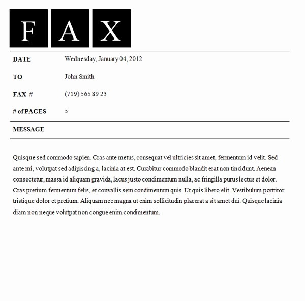 Professional Fax Cover Sheet Template New Fax Cover Sheet Template Fax Cover Sheet
